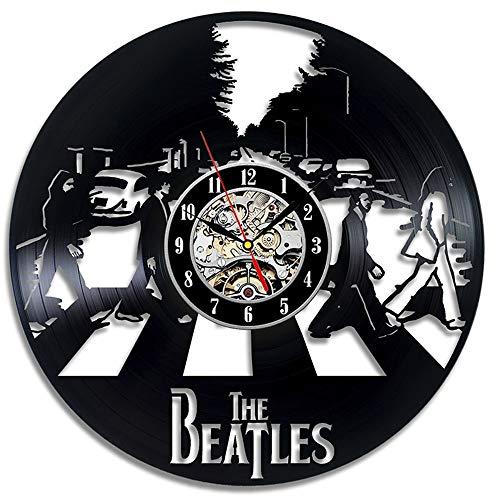 LittleNUM Vinyl-LP Wanduhr The Beatles Kreative Wanduhr Vintage-Wanduhr Hauptdekoration Geschenk des neuen Jahres handgemachte Rekord Uhr
