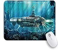 ECOMAOMI 可愛いマウスパッド 海洋サイエンスフィクションの水中アドベンチャー神秘的な海底を探索する 滑り止めゴムバッキングマウスパッドノートブックコンピュータマウスマット