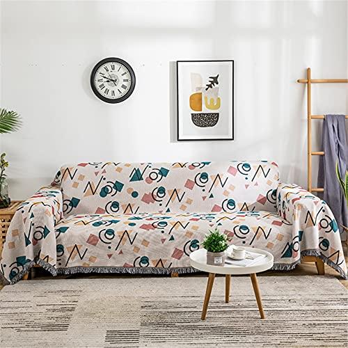 Graffiti geométrica Manta de tiro para silla de cama Sofá, Mantel de tela decorativo de algodón reversible para el hogar, Mantas de toalla de sofá de estilo nórdico