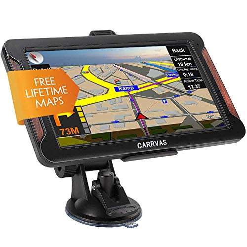 GPS Navigation for Car & RV & Truck, CARRVAS 7-inch GPS Navigation with Voice Guidance, 8GB 256MB, Pre-Installed maps of The United States, Canada, Mexico, Central America, Free Lifetime Map Update