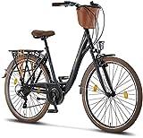 Licorne Bike Premium City Bike in 24,26 und 28 Zoll - Fahrrad für Mädchen, Jungen, Herren und...