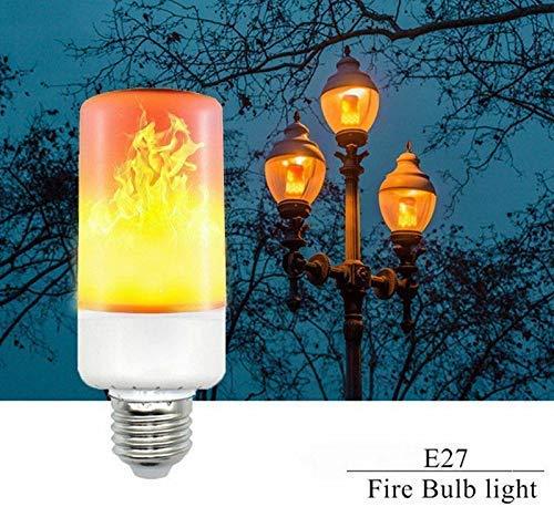 4Modes LED Flame Effect Simulated Nature Fire Light Bulb E27 5W Decoration Zuhau