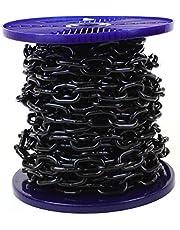 Cadena de acero resistente JBP acabado lacado negro - Carrete completo y longitud personalizada disponibles
