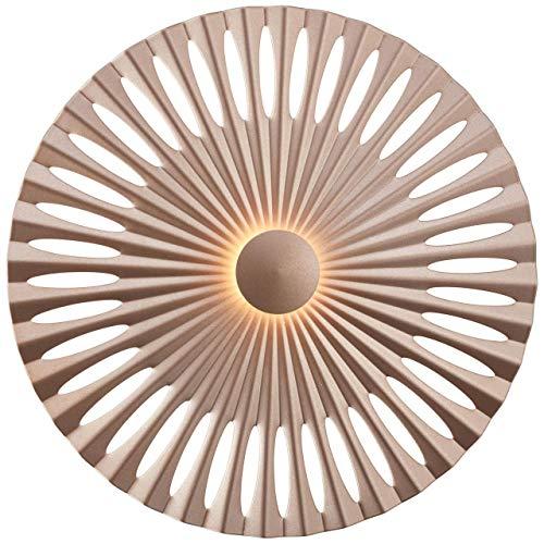 BRILLIANT lamp Phinx LED wandlamp 32cm bruin/koffie |1x 12W LED geïntegreerd, (1282lm, 3000K) |Schaal A ++ tot E |Decoratieve achtergrondverlichting aan de muur of het plafond