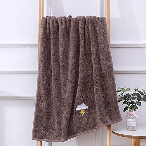 BBNBY Toallas de baño de algodón Suave de Primera Calidad;Toalla de baño de Lujo para Hotel y SPA - Toalla de baño Lavable a máquina, súper Suave y Altamente Absorbente (70 * 140 cm) marrón