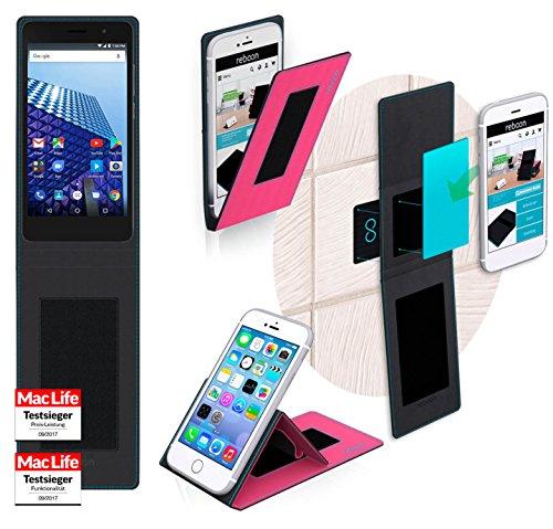 reboon Hülle für Archos Access 50 Color 3G Tasche Cover Case Bumper | Pink | Testsieger