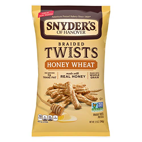 Snyder's of Hanover Pretzels Braided Twists, Honey Wheat, 12 Ounce (Pack of 12)