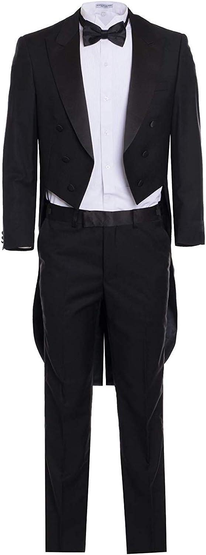 Frank Men's Suit Peaked Lapel Longtail 2 Pieces Wedding Suits