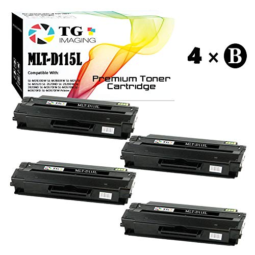 TG Imaging Compatible Toner Replacement for Samsung MLT-D115L Black 4-Pack Xpress M2820 M2870 M2820DW