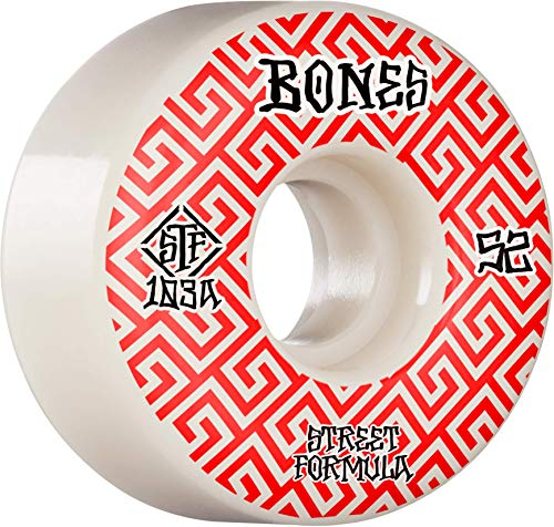 Bones Wheels Skateboardrollen STF V2 Locks 103A 52mm (White)