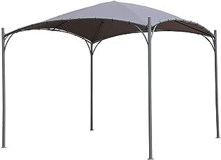 Angel Living 3 x 3 m ARC Canopy Pabellón Gazebo de Acero con Techo de Poliéster de 180g/㎡ para jardín Patio Resistente al Agua y UV