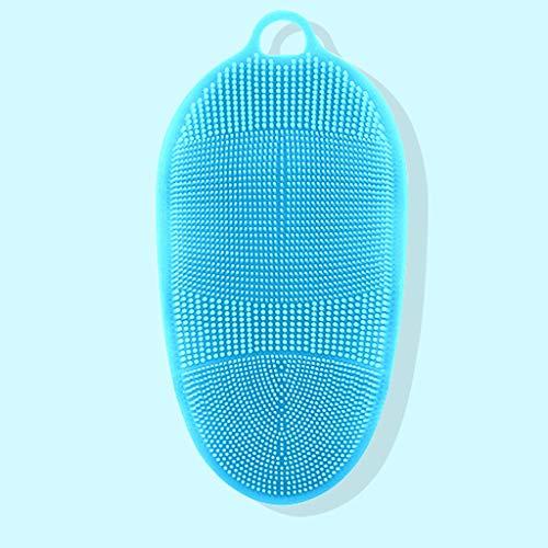 Manoplas exfoliantes Hombres y mujeres fuertes Guantes de barro Volver Frotar silicona masaje del baño del cepillo Manopla de mano para exfoliación corporal (Color : D)
