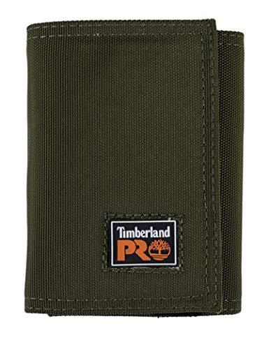 Timberland PRO Herren Cordura Velcro Nylon RFID Trifold Wallet with ID Window Geldbrse, olivgrün, Einheitsgröße