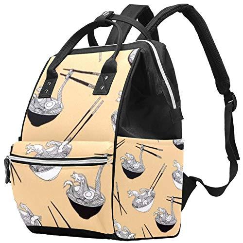 Vajilla sopa gran capacidad pañal mochila bebé pañal bolsa mochila bolsa de viaje para madres papás