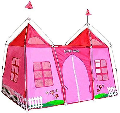 LIAN Kinder Spiel Zelt Castle Play House Faltbare Innen- und Au dekoration Anti-Mücke (Rosa 70,9  45,7  47,2 Zoll Verpackung von 1)