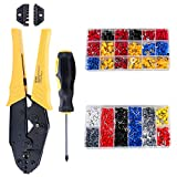 HSEAMALL 2 in 1 Crimping Tool Kit,0.25-10 mm² Wire Crimper, Ratcheting Crimp Pliers