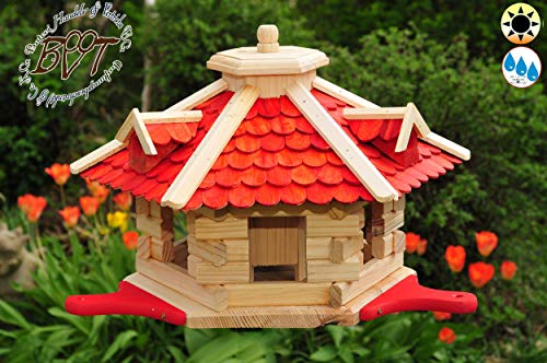 Vogelfutterhaus mit Holzschindeln