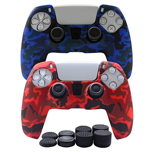 PS5 Controller Skin-Hikfly Silicone Cover for PS5...