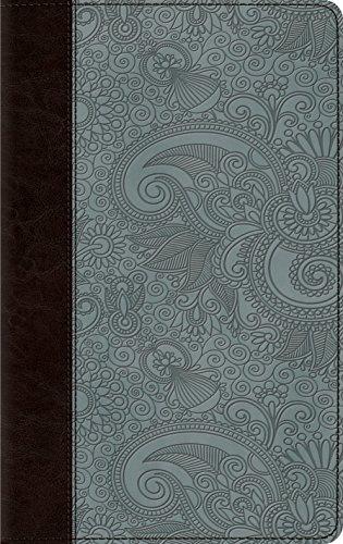 ESV Thinline Bible (TruTone, Chocolate/Blue, Garden Design)