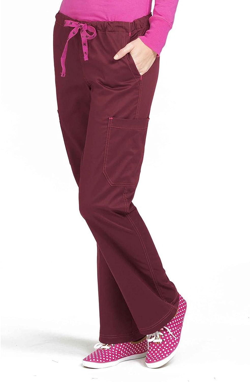 Med Couture Women's 'MC2' Layla Scrub Pant Wine Raspberry