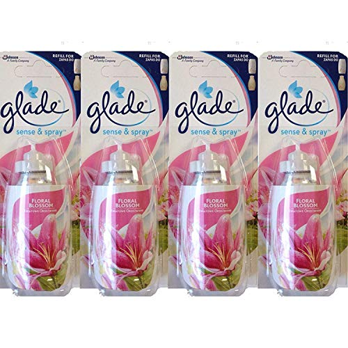 Glade 4 X Sense & Spray Recharges Floral Blossom/18 ml