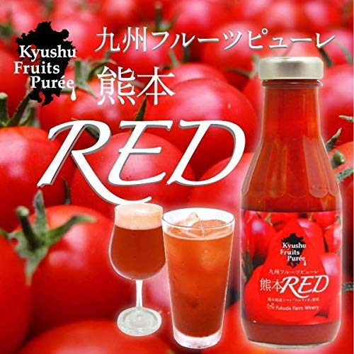 福田農場 九州果実シロップ ピューレ トマト(熊本RED)375g 熊本フルーツソース