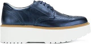 Luxury Fashion | Hogan Women HXW3550AB00SV0U800 Blue Leather Lace-up Shoes | Autumn-winter 19