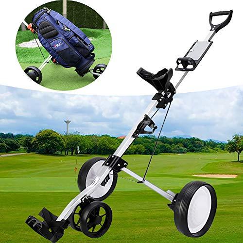 Push Cart Golf,Fußbremse,Aluminiumlegierung Faltbarer Golf Trolley,Golf Pull Carts 3 Rad Falten 4.6 * 2.2ft