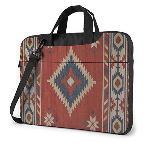 Laptop Shoulder Bag,Native Tribal in-dian Geometric Texture Shockproof Laptop Sleeve Cover Business Messenger Bag Briefcase Handbag Case 15.6 inch