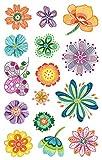 AVERY Zweckform Papier Sticker Blumen 30 Aufkleber (Dekosticker, Aufkleber, Blüten, selbstklebend, Karten, Scrapbooking, Fotoalbum und Tagebuch, Bullet Journal Zubehör, Dekorieren,...