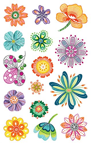 AVERY Zweckform Papier Sticker Blumen 30 Aufkleber (Dekosticker, Aufkleber, Blüten, selbstklebend, Karten, Scrapbooking, Fotoalbum und Tagebuch, Bullet Journal Zubehör, Dekorieren, Basteln) 54484