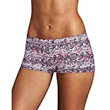Maidenform Women's Dream Microfiber Boyshort Panty (40774), Strawberry Snakeskin, 6