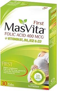 MasVita First Folic Acid 400 MCG + Vitamins B1, B6, B12 and D3