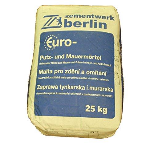 Putz- und Mauermörtel 25KG zur Herstellung von Mauerwerk aus Ziegelsteinen, Porenbetonsteinen, Kalksandsteinen und Betonsteinen, als Putzmörtel im Innen- und Außenbereich geeignet