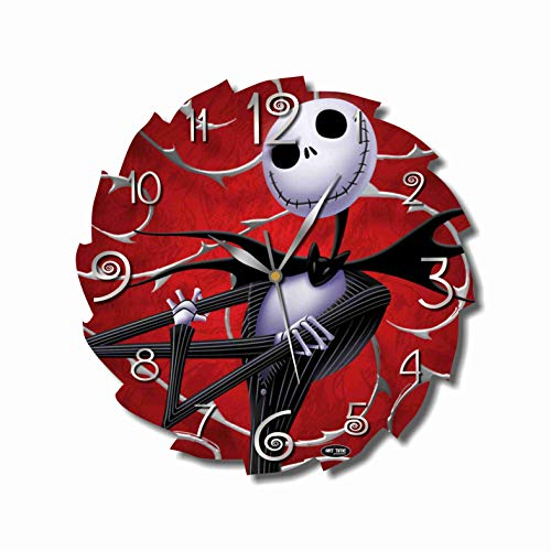 The Nightmare Before Christmas 11.4'' Handmade Wall Clock - Get Unique décor for Home or Office – Best Gift Ideas for Kids, Friends, Parents and Your Soul Mates.