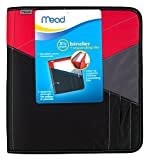 Mead Zipper Binder with Expanding File, 3 Ring Binder, 1-1/2', Color Selected For You, 1 Count (29024)