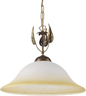 onli lámpara de techo E27, 22W, marrón/marfil/ámbar, 40x 150cm