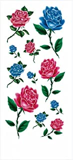 Tijdelijke Tatoeages 3 Vellen Tijdelijke Tattoo Sticker Rode Roos Paarse Roos Vlinder Tattoo Heup Arm Terug Taille Been Ne...