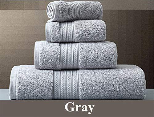 Heliansheng Toalla de baño de algodón Puro Toalla de baño súper Absorbente Juego de Toallas de baño Grandes y Gruesas para Adultos -Gray-33x33cm