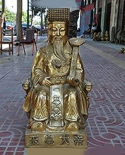 Wedding Decoration China Taoism Myth Brass Supreme Deity Taoism Sovereign Jade Emperor God Statue