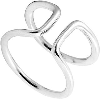 مجوهرات أكواوس خاتم الحب ، خاتم قابل للتعديل ، خاتم ملهم ، خاتم الوعد - خاتم إصبع القدم، قابل للتعديل