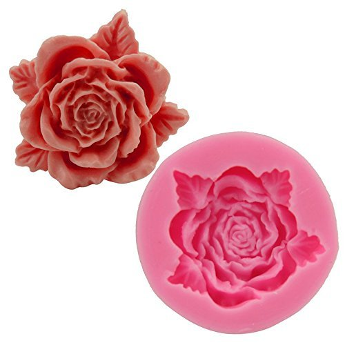 Clest F&H 3D Styling Flower Silicone Mold Cookware Dining Bar Non-Stick Cake Decorating Fondant Soap Mold
