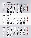HiCuCo Kalendarium für 2 Jahre passend für 3-Monats-Tischkalender TypW