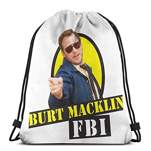 Burt klin FBI! Kordelzug Sport N Tasche Reisetasche Geschenktüte