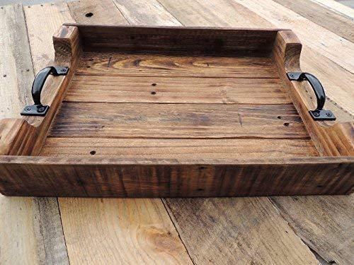Amazon Com Rustic Wood Ottoman Table Serving Tray Xtra Large 24x30 Handmade