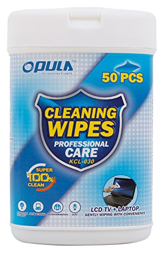 DURAGADGET 50 Anti-Static LCD Cleaning Cloths/Wipes - Compatible with Lenovo Moto Tab