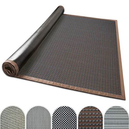 casa pura Outdoor-Teppich mit Bordüre | ideal für Terrasse, Balkon, Garten, Küche, Flur | aus Kunststoff wetterfest und rutschsicher | Viele Größen und Farben (Modena, 70x130 cm)
