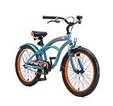 BIKESTAR Bicicleta para niños con Lateral y Accesorios para niños de 6 años | 20 Pulgadas Cruiser Edition | Azul