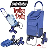 dbest products Stair Climber Trolley Dolly, Blue Shopping Grocery Foldable Cart Condo Apartment