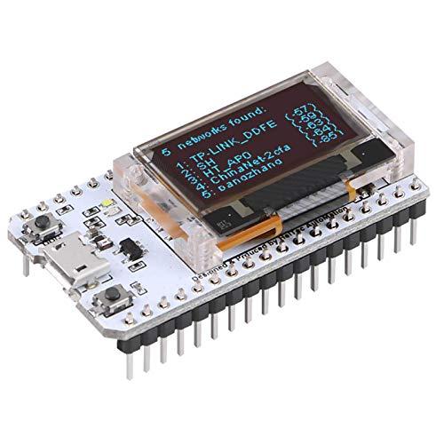 MakerFocus ESP32 Development Board Upgraded Version 8MB Flash, ESP32 WiFi Bluetooth, ESP32 OLED 0.96 Inch OLED Display CP2102 Internet for Ar duino ESP8266 NodeMCU